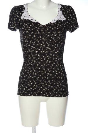 Vive Maria T-Shirt schwarz-weiß abstraktes Muster Casual-Look