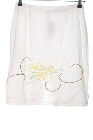 VIVENTY Bernd Berger Flared Skirt white-primrose flower pattern casual look
