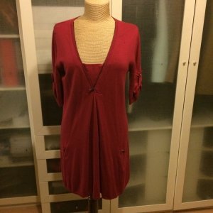Bernd Berger Knitted Dress magenta wool