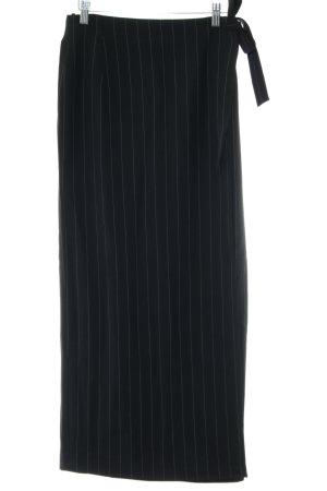 VIVENTY Bernd Berger Maxi Skirt black striped pattern business style