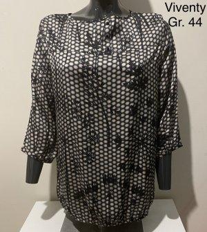 Viventy Long Sleeve Blouse black-white