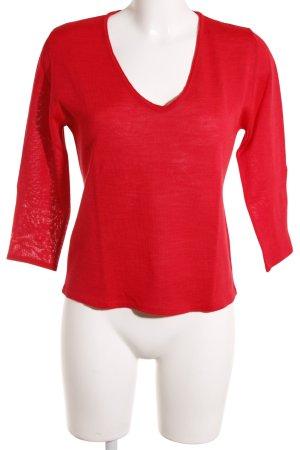 Viventy Rundhalspullover rot schlichter Stil