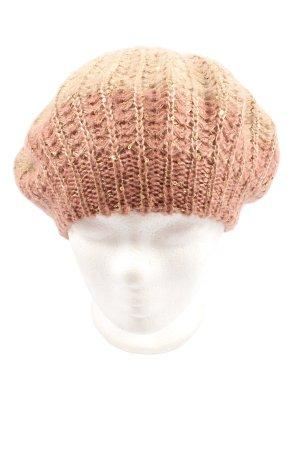 Vivess Berretto basco rosa-bianco sporco stile casual