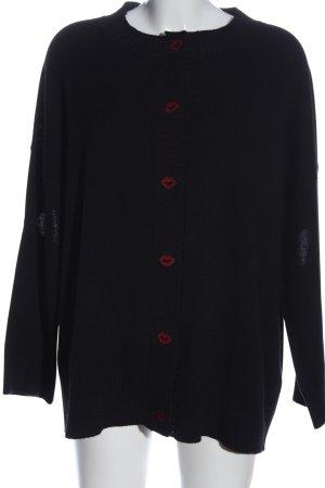 Vivetta Wollpullover schwarz-rot Motivdruck Casual-Look