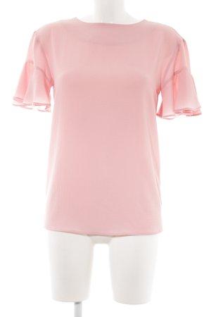 Vivian Ray Kurzarm-Bluse rosa Elegant
