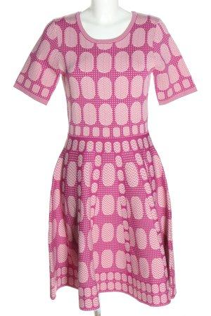 Vivian Ray Kurzarmkleid pink-türkis Allover-Druck Casual-Look