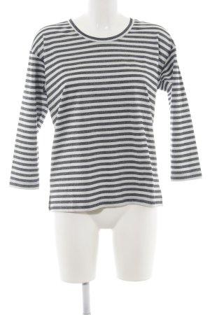 Vivian Ray Sweatshirt schwarz-weiß Streifenmuster Casual-Look