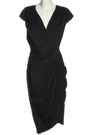 Vivian Ray Robe bas asymétrique noir style d'affaires