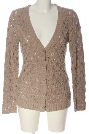Vivien Caron Cardigan brown cable stitch casual look