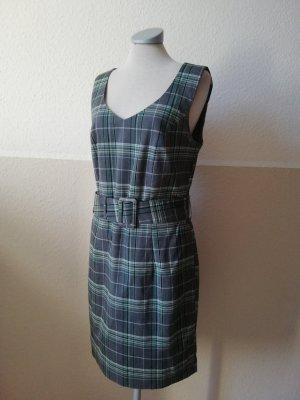 Vivien Caron Etuikleid Kleid kariert grau grün Gr. EUR 38 S M Kleid tailliert