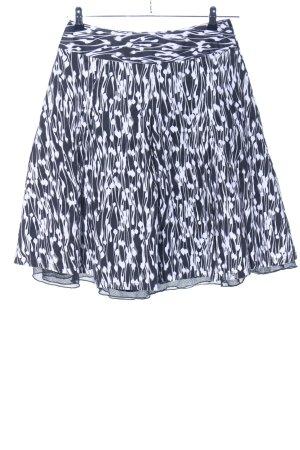 Vivien Caron Faltenrock schwarz-weiß abstraktes Muster Casual-Look
