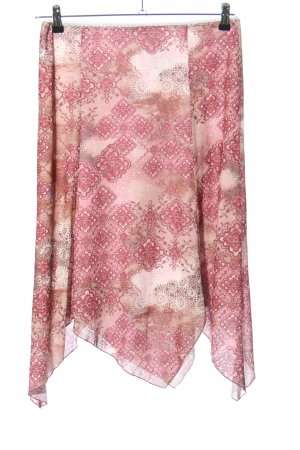 Vivien Caron High Waist Rock pink-wollweiß Allover-Druck Casual-Look
