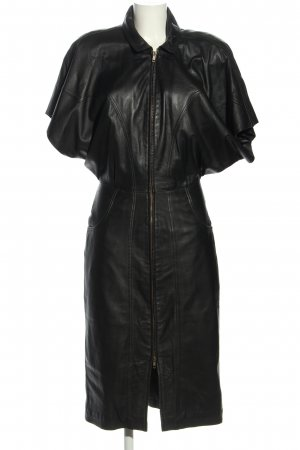 Vivien Caron Vestito in pelle nero stile casual