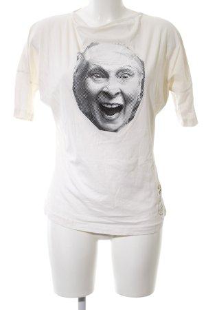 Vivienne Westwood Camisa holgada crema estampado temático look casual