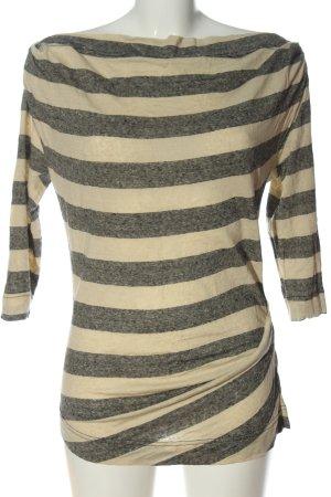 Vivienne Westwood Koszulka w paski jasnoszary-kremowy Na całej powierzchni