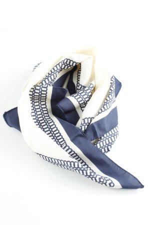 Vivienne Westwood Seidenschal creme-dunkelblau abstraktes Muster Elegant