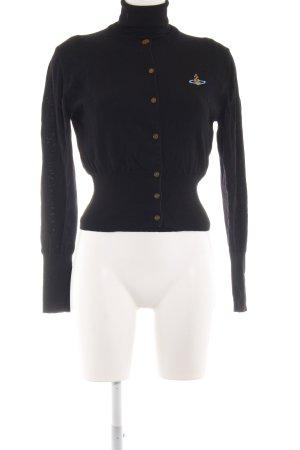 Vivienne Westwood Strick Twin Set schwarz Schriftzug gestickt Casual-Look