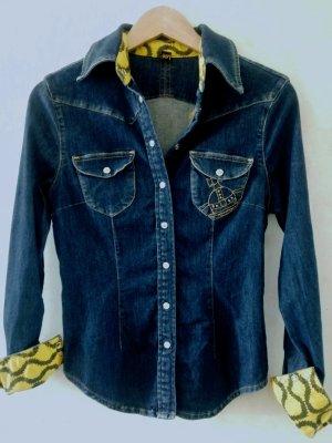 Vivienne Westwood Jeansowa koszula ciemnoniebieski