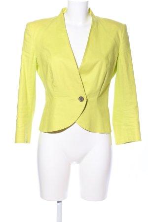 VJC Versace Kurz-Blazer blassgelb Business-Look