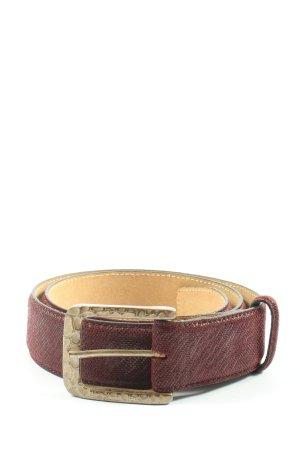 VMP Cintura di pelle marrone-crema stile casual