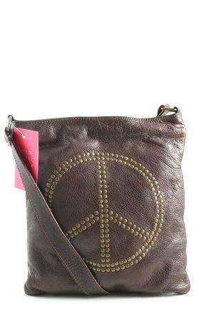 VMP Sac bandoulière brun imprimé avec thème style décontracté