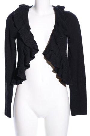 Strickjacke schwarz Casual-Look