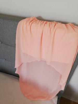 Amisu Asymmetry Skirt salmon polyester