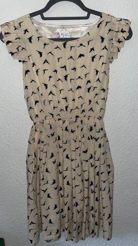 Vogelprint Kleid