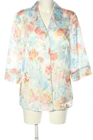 Vogelsang Kurzarm-Bluse Blumenmuster Casual-Look