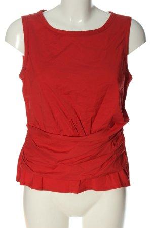 Vogue Blusa senza maniche rosso stile casual