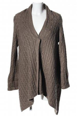 Vogue Cardigan braun Zopfmuster Casual-Look