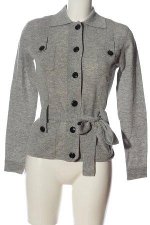 Vogue Cardigan grigio chiaro puntinato stile casual