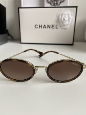 Vogue Retro Glasses brown-gold-colored
