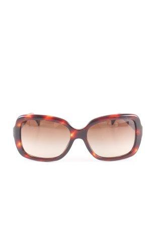 Vogue Angular Shaped Sunglasses brown-light orange allover print casual look
