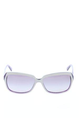 Vogue Hoekige zonnebril blauw-room casual uitstraling
