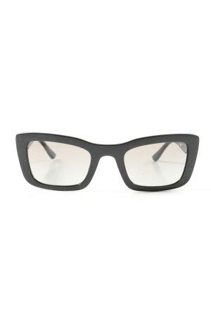 Vogue eckige Sonnenbrille schwarz Motivdruck Casual-Look