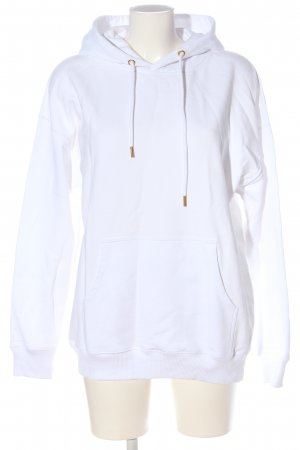 Vogue Hooded Sweatshirt white-light orange embroidered lettering casual look