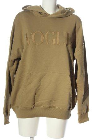 Vogue Hooded Sweatshirt brown casual look
