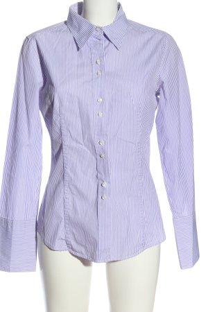 Vogue Camicia a maniche lunghe blu-bianco motivo a righe stile professionale