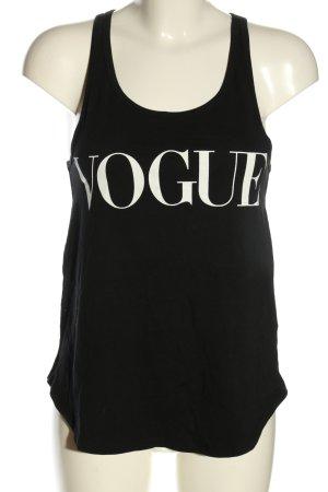 Vogue Débardeur marcel noir-blanc tissu mixte