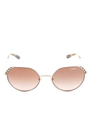 Vogue Gafas de sol ovaladas marrón look casual