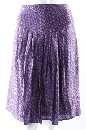 Vogue Gonna a pieghe viola scuro-grigio Seta