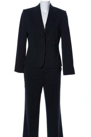 Business-Anzug schwarz Streifenmuster Business-Look
