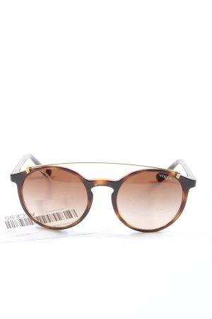 Vogue runde Sonnenbrille braun-creme Business-Look