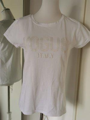 0039 Italy T-shirt imprimé blanc-blanc cassé coton