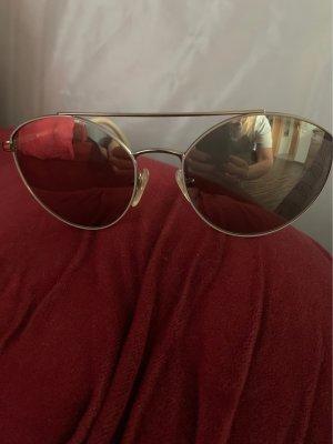 Vogue Gafas de piloto color bronce-crema metal