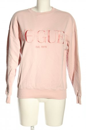 Vogue Sweat Shirt nude printed lettering casual look