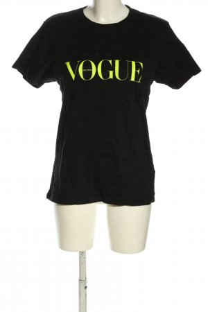 Vogue T-Shirt schwarz-grün Schriftzug gedruckt Casual-Look