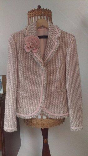 Vogue Tailleur rosa pallido-bianco Lana