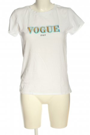 Vogue T-Shirt white printed lettering casual look